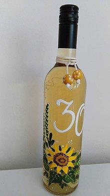 Darčekové poukážky - Maľovaná fľaša vína - 8089594_