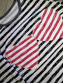 Tričká - Pásikavé tričko na dojčenie sivo-ružové - 8090476_