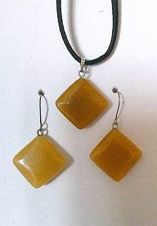 Sady šperkov - sada (krištaľ lemon) - 8090096_
