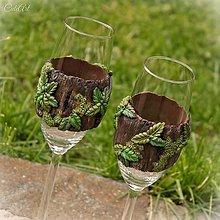 Nádoby - Šampusky pre dvoch elfov - sada 2 pohárov - 8092218_