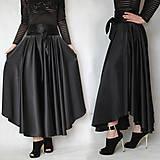 Sukne - Saténová asymetrická sukňa rôzne farby - 8091113_