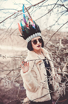 Ozdoby do vlasov - Pestrofarebná indiánka - 8089004_