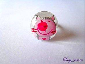 Prstene - Prsteň mačička-ružová :) - 8091766_