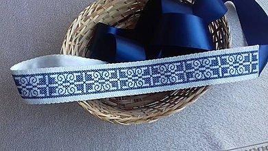 Opasky - opasok modrý - 8091543_