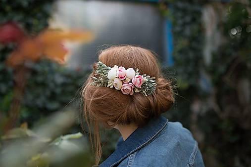 """výpredaj z 24 eur Kvetinový pastelový hrebienok """"len teba"""""""
