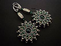 Náušnice - Emerald Mandalas - 8092401_
