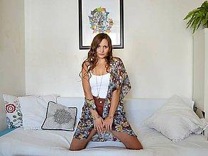 Iné oblečenie - Farebný kvetovaný cardigan - 8091041_