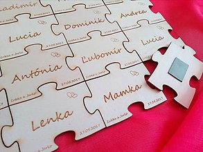 Magnetky - svadobné magnetky - puzzle - 8089346_