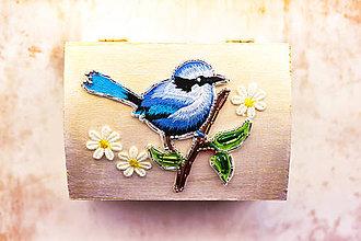 Krabičky - Singing bird - šperkovnica - 8091146_