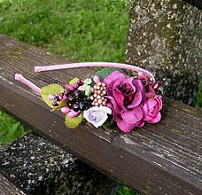 Ozdoby do vlasov - Kvetinová čelenka - 8091519_