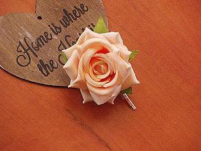 Ozdoby do vlasov - Sponka marhuľová ruža - 8092512_