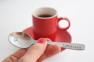 Drobnosti - Supermama - kávová lyžička - 8090904_