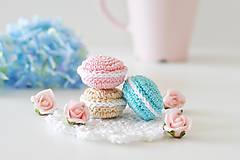 """Hračky - Francúzske macarons """"mint, cappuccino,jahoda"""" - 8090585_"""