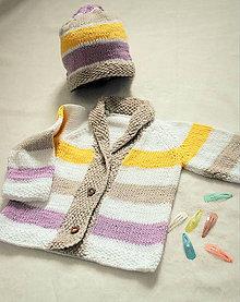 Detské oblečenie - pletená súprava pre dievčatko - 8091461_