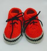 Topánočky - Háčkované tenisky- trampky. (Žltá) - 8093466_