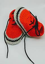 Topánočky - Háčkované tenisky- trampky. (Žltá) - 8093467_