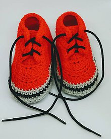 Topánočky - Háčkované tenisky(papučky) - 8093465_