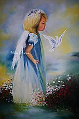 Anjel s holubicou - energický obrázok