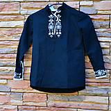 Detské oblečenie - Čierna detská košeľa - 8092637_