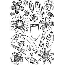 Pomôcky/Nástroje - Silikónové razítko Sweet Dixie - Retro Kvetiny - 8095897_