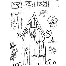 Pomôcky/Nástroje - Silikónové razítko Sweet Dixie - Čarovné dvere - 8096014_