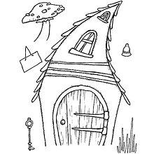 Pomôcky/Nástroje - Silikónové razítko Sweet Dixie - Krivý čarovný domček - 8096047_