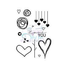 Pomôcky/Nástroje - Silikónové razítko Sweet Dixie - Láska je vo vzduchu - 8096137_