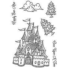 Pomôcky/Nástroje - Silikónové razítko Sweet Dixie - Rozprávkový hrad - 8096153_