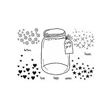 Pomôcky/Nástroje - Silikónové razítko Sweet Dixie - Little jar of - 8096176_