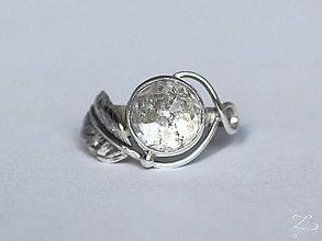 Prstene - Strieborný anjelský prsteň s krištáľom - Tu Som - 8092691  2fab3f053c