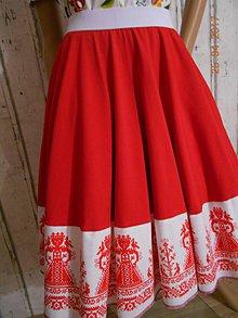 Sukne - Floral FOLK - kruhová sukňa s vačkami - 8095851_