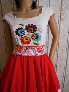 Topy - Floral FOLK - top, ako maľovaný... - 8096173_