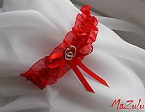 Bielizeň/Plavky - Svadobný podväzok ♥ - 8092702_