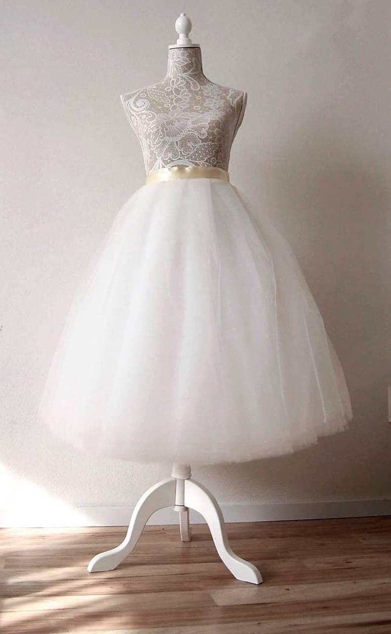 4ebad803f320 Svadobná sukňa tylová