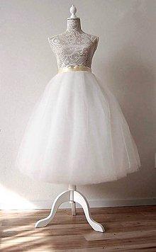 Sukne - Svadobná sukňa tylová - 8095684_