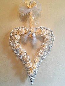Pierka - svadobné srdce marhuľové - 8095035_