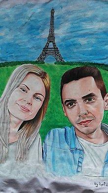Úžitkový textil - Láska v Paríži - 8094518_