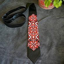 Doplnky - Vyšívaná kravata Red - 8094492_