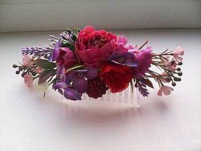 Ozdoby do vlasov - Kvetinový hrebienok do vlasov