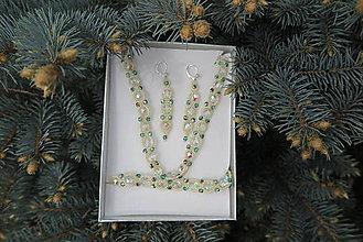 Sady šperkov - SET - náušnice, náramok a náhrdelník - 8094020_