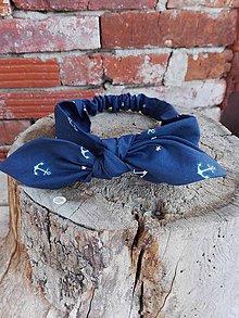 Ozdoby do vlasov - Čelenka - námornícka - 8094935_