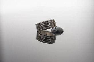 Prstene - Obrúčka s odtlačkom prsta - 8096128_
