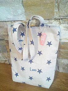 Nákupné tašky - Taška REŽNÁ S HVĚZDAMI - 8094839_