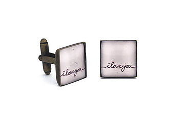 Šperky - Manžetky I love you - 8094925_