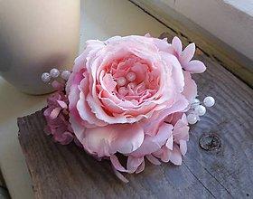 Ozdoby do vlasov - Ruža a perličky - 8096206_