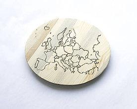 Pomôcky - Servírovací lopár: Mapa - 8093365_