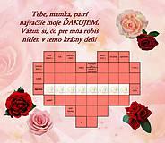 Grafika - Malé krížovkové srdiečko - 8096123_