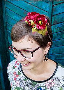 Ozdoby do vlasov - vínová květinová radost - 8094088_