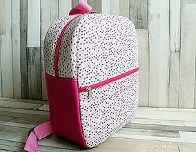 Detské tašky - Ružový so srdiečkami ruksak - 8094745_