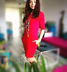 Šaty - Červené vreckové šaty - Reddress - 8093491_